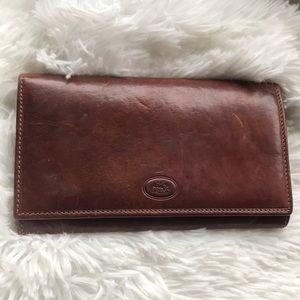 Gorgeous vintage chestnut brown leather wallet